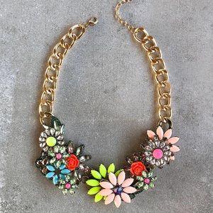 Peach Flower Neon Necklace